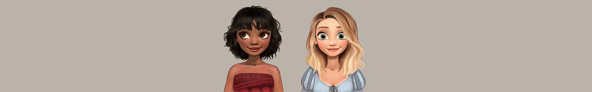 18 Penteados diferentes das Princesas da Disney por Linnéa