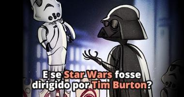 Como seria Star Wars se fosse dirigido por Tim Burton?